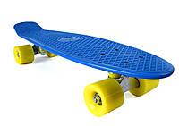 Пенни Борд «Синий» 22″ Желтые Колеса / пенниборд скейт (penny board), скейтборд