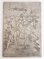 """Панно, картина, гравюра """"Дама и ландскнехт"""", Германия, Альбрехт Дюрер, фото 1"""