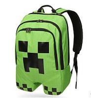 Рюкзак школьный Майнкрафт MineCraft Creeper + браслет в подарок!