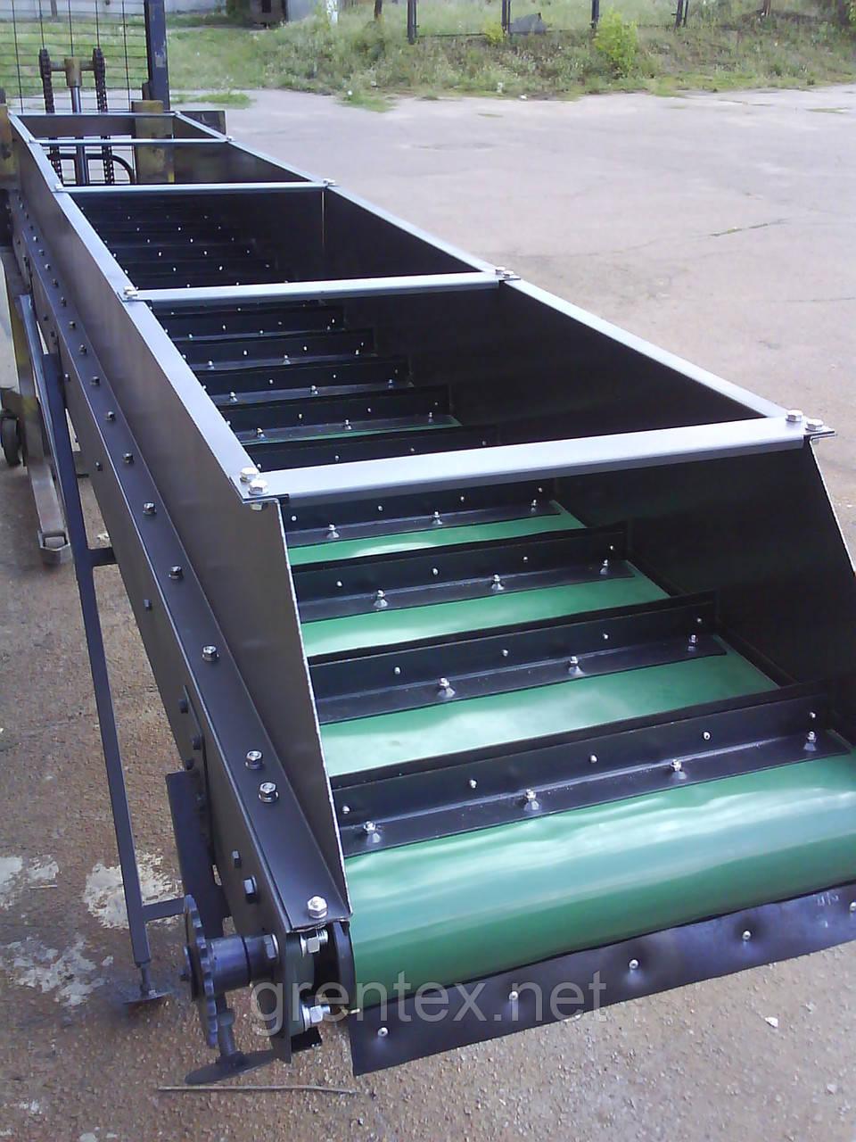 Конвейер наклонный ленточный подвеска передняя транспортер т4