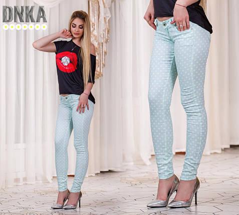 Женские брюки в горошек, фото 2