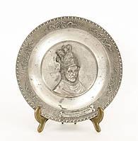 Тарелка  оловянная, олово, Германия, Рембрандт, 13 см
