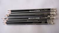 Карандаш простой чернографитный Marco Grip-Rite HВ,серый  для рисования,графики и черчения.Простой карандаш с