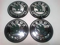 Наклейка на колпак диска Skoda 90 мм металл