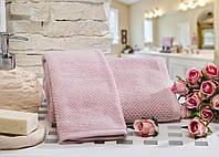 Полотенце махровое для лица Evelyn pink 30*50.