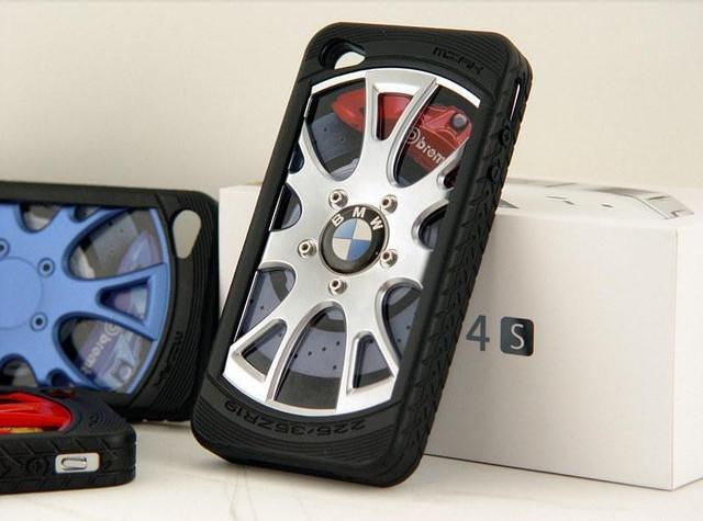 Чехлы для iPhone 4 4S авто диски 3D Miak
