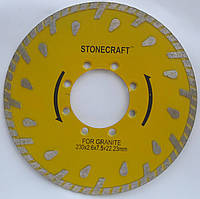 "Алмазный диск для резки гранита под фланец, ""Глубокорез""  Stonecraft Turbo 230x3,0x7,5x70"