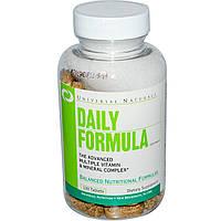 Витамины мультивитамины Universal Nutrition, Daily Formula, Multi Vitamin & Mineral Complex, 100 табл