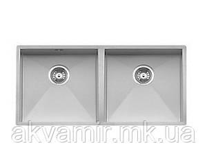Мойка Fabiano Quadro 87 Double (R10) S/Steel 1,2 мм под столешницу