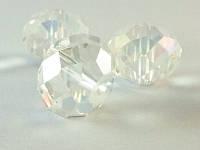 Бусина хрустальная рондель Цвет Crystal AB 11х14