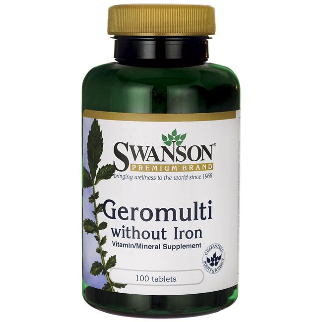 Swanson Premium Geromulti without Iron Витамины 50+ без железа 100 жк Премиум США