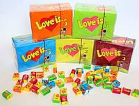Жвачки love is  Турция , блок 100шт в ассортименте