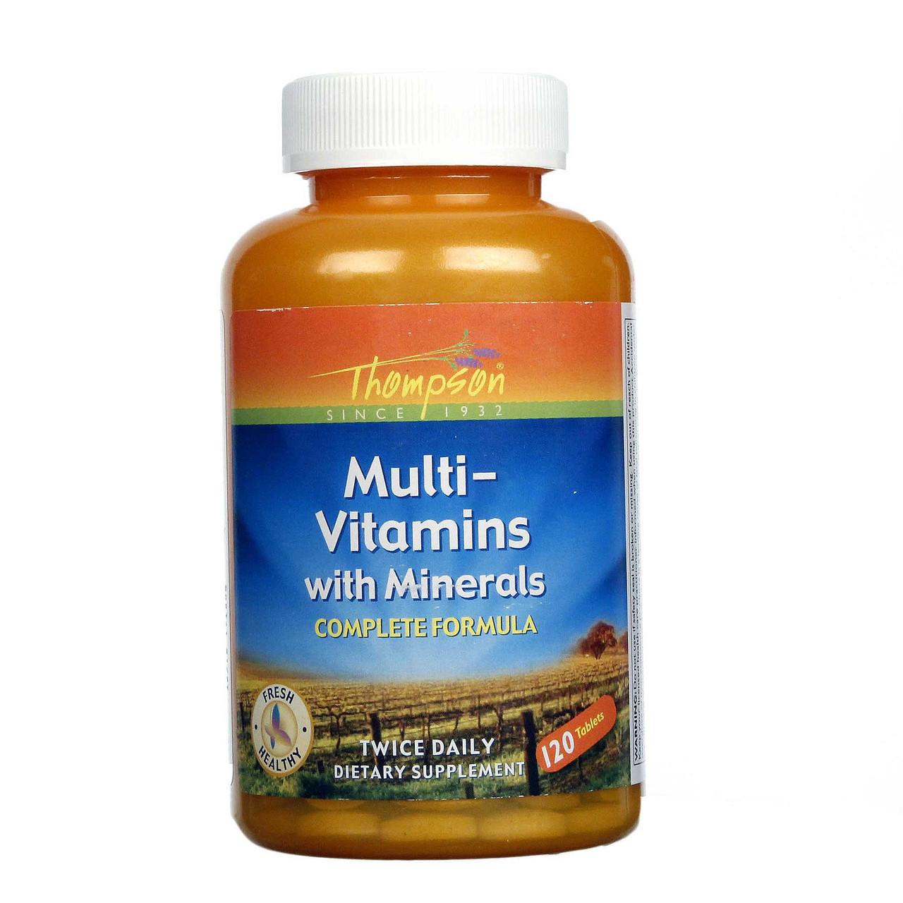 Витамины Thompson Multi-Vitamin with Minerals 120 таблеток - интернет-магазин besuto.prom.ua в Луцке