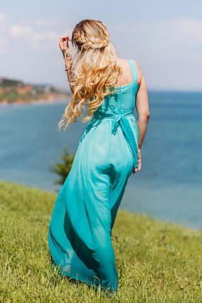 Голубое платье в пол, фото 2