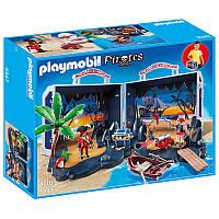 Игровой набор Пираты - Пиратский сундук с сокровищами