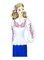 Заготовка женская для вышивки бисером блузки