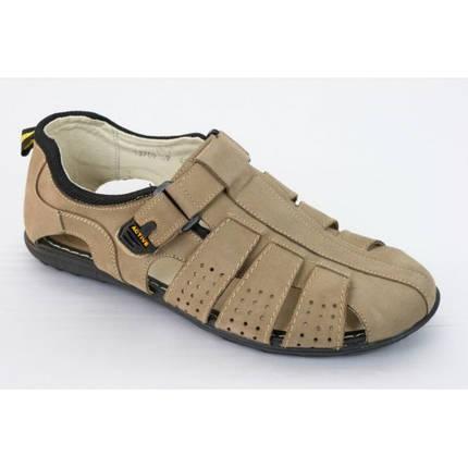 Летние мужские сандалии из натур. нубука МИДА 13709 кум., фото 2