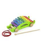 Игрушка-каталка Viga Toys Крокодил 50342