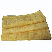 Полотенце махровое Португалия, 70*140, гладкокрашенное, модель Shell желтый