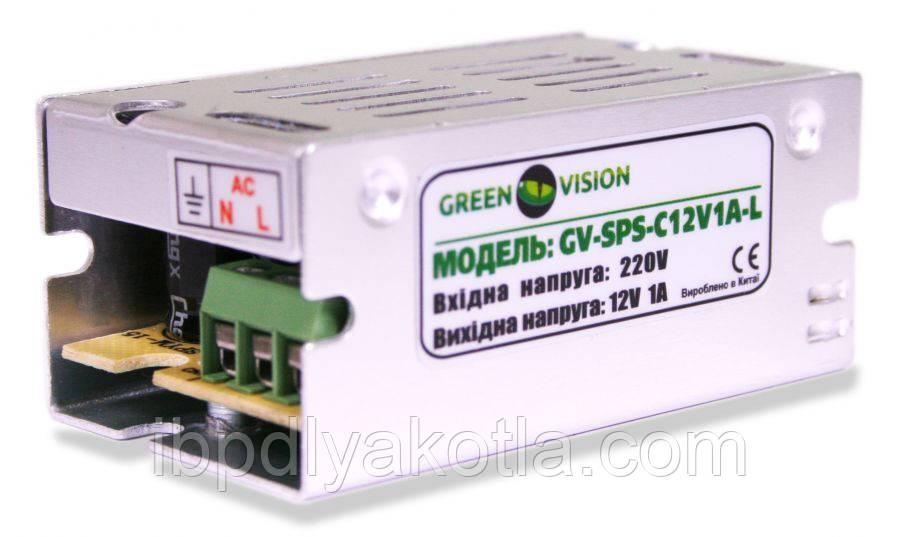 Импульсный блок питания Green Vision GV-SPS-C 12V1A-L(12W)
