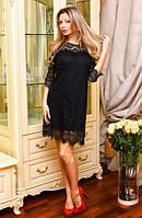 Коктельное платье из французского гипюра