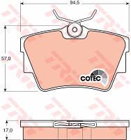 Тормозные колодки задние дисковые Vivaro , Trafic , Primastar ( TRW GDB1479 )