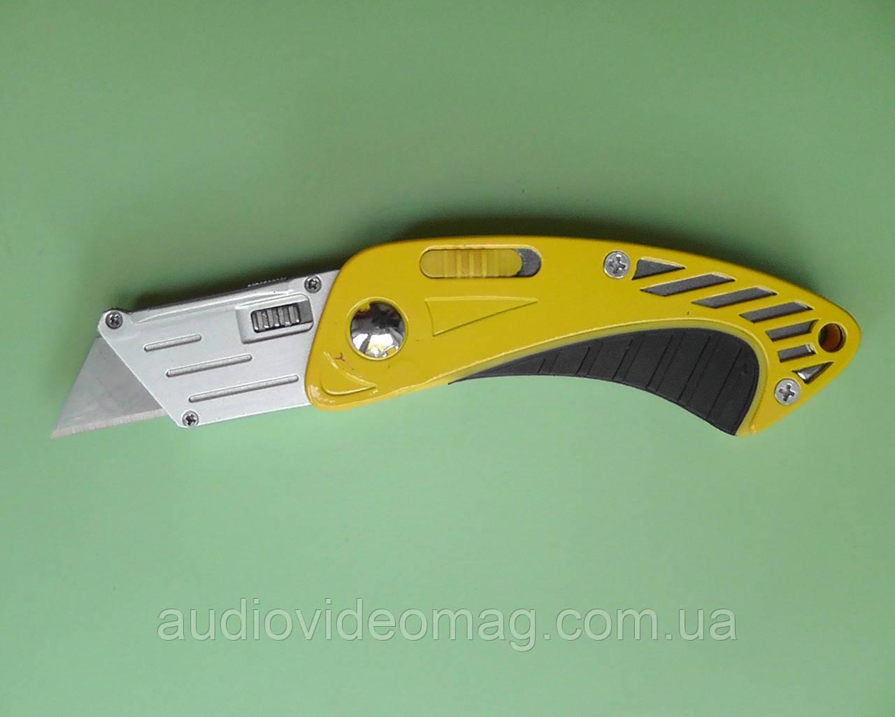 Нож строительный складной с трапециевидным лезвием