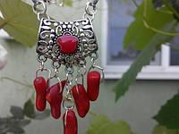 Подвеска  из кораллов , подарок  ручной  работы для женщин, фото 1