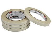 Стеклотканевая лента 3М 69, белая, термоактивный силиконовый адгезив, 12мм х 33м, 200 С, 3000 В