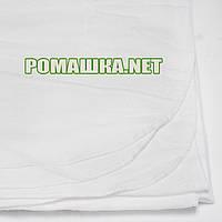 Белая фланелевая пелёнка 120х75 см (фланель, байковая, байка), однотонная, ТМ Ромашка, Украина 3307 Белый