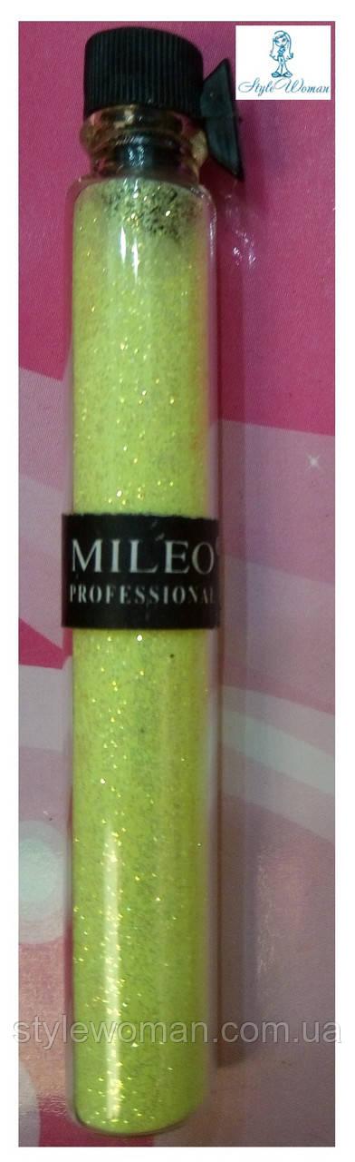Блестки для дизайна ногтей Mileo Professional присыпка Милео №1