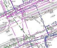 Съемка подземных и надземных коммуникаций (план)