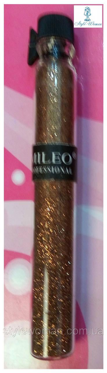 Блестки для дизайна ногтей Mileo Professional присыпка Милео №2