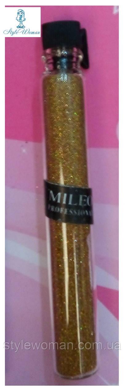 Блестки для дизайна ногтей Mileo Professional присыпка Милео №5