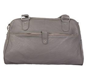Дорожная сумка серого цвета 30411