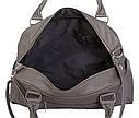 Дорожная сумка серого цвета 30411, фото 6