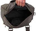 Дорожная сумка серого цвета , фото 6