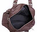 Стильная дорожная сумка коричневого цвета, фото 2