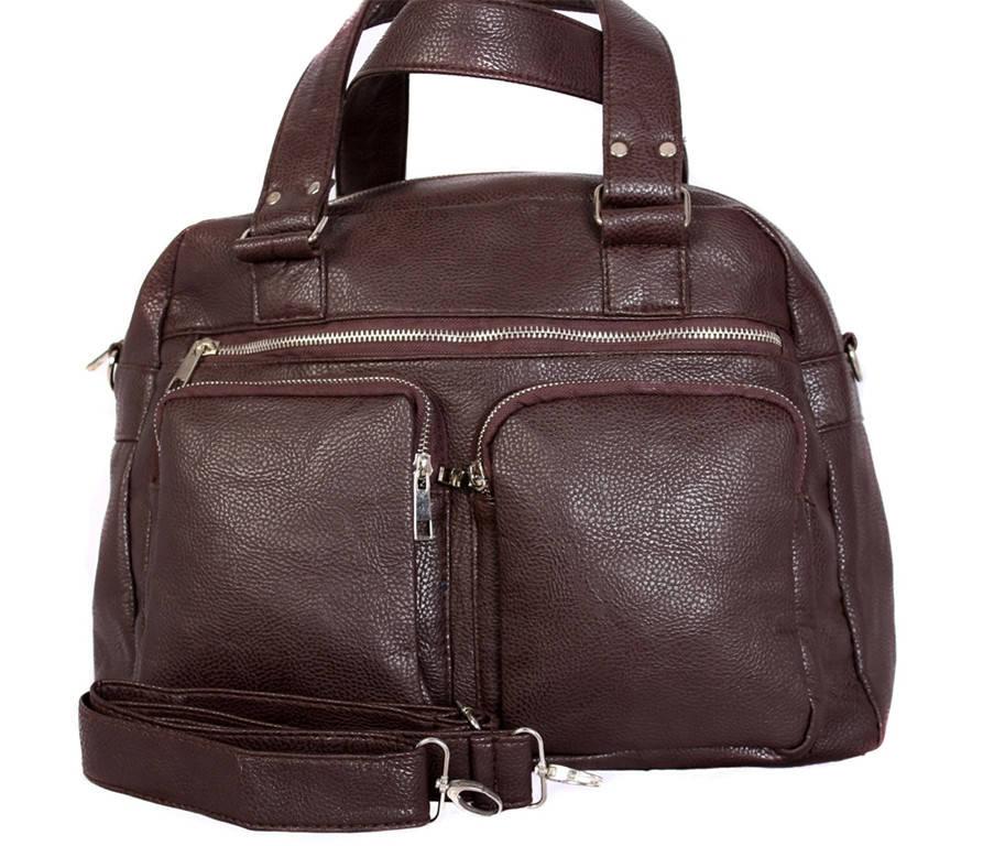 Стильная дорожная сумка коричневого цвета