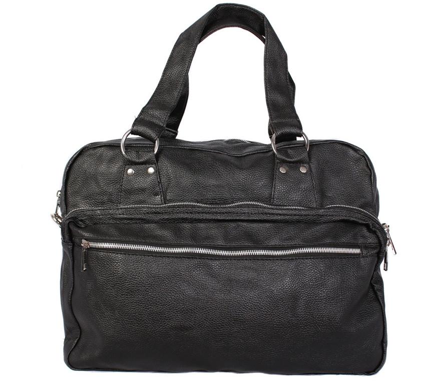 Стильная дорожная сумка из кожзаменителя
