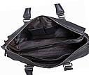 Стильная дорожная сумка черного цвета, фото 8