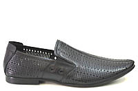 Летние туфли мужские классические из натуральной кожи