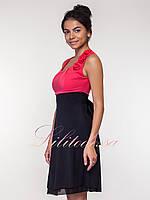 Нарядное летнее Платье Анжелика красное, фото 1
