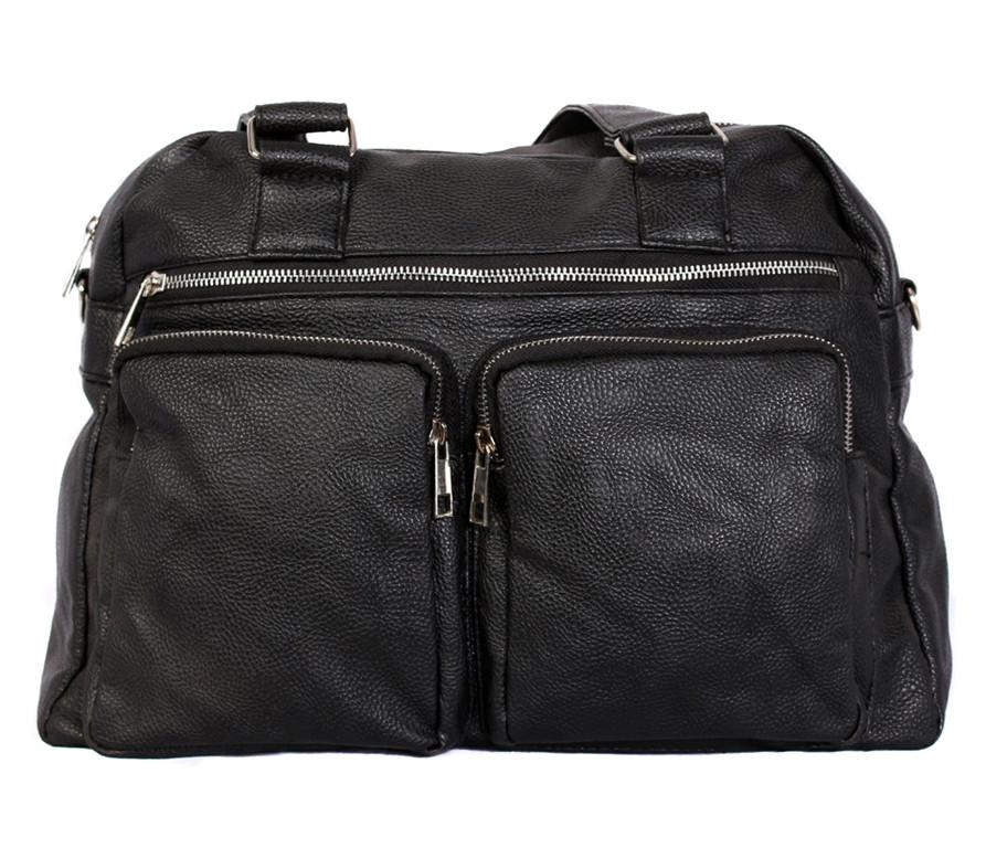 Дорожная сумка из искусственной кожи 30402 черная