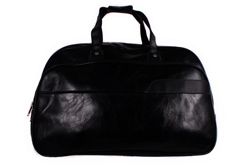 Дорожная сумка из искусственной кожи 4288 черная