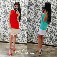Женское модное платье без рукавов (2 цвета)