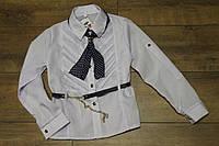 Шкільна блузка для дівчаток ріст 140-146