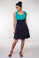 Нарядное летнее Платье Анжелика бирюзовое, фото 1