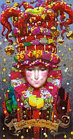 Схема для вышивки бисером POINT ART Клоун, размер 22х42 см