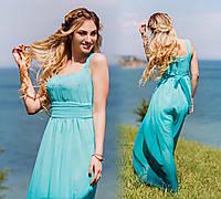 """Элегантное длинное шифоновое платье """"Деграде"""" в расцветках, фото 1"""